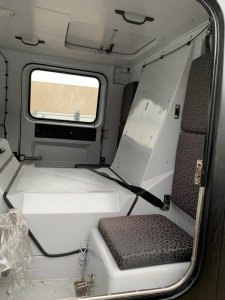 New Hagglund front cab rear seats