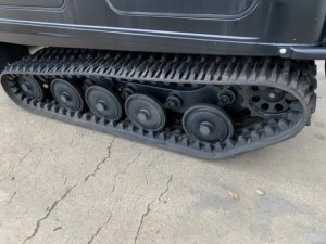 Rebuilt Hagglund undercarriage and new tracks