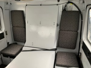 Refurbished Hagglund BV206 front cab interior