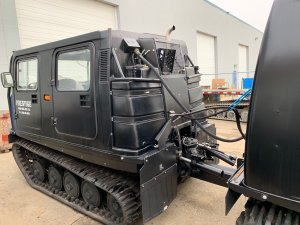 New Hagglund BV206 hydraulics and hitch unit
